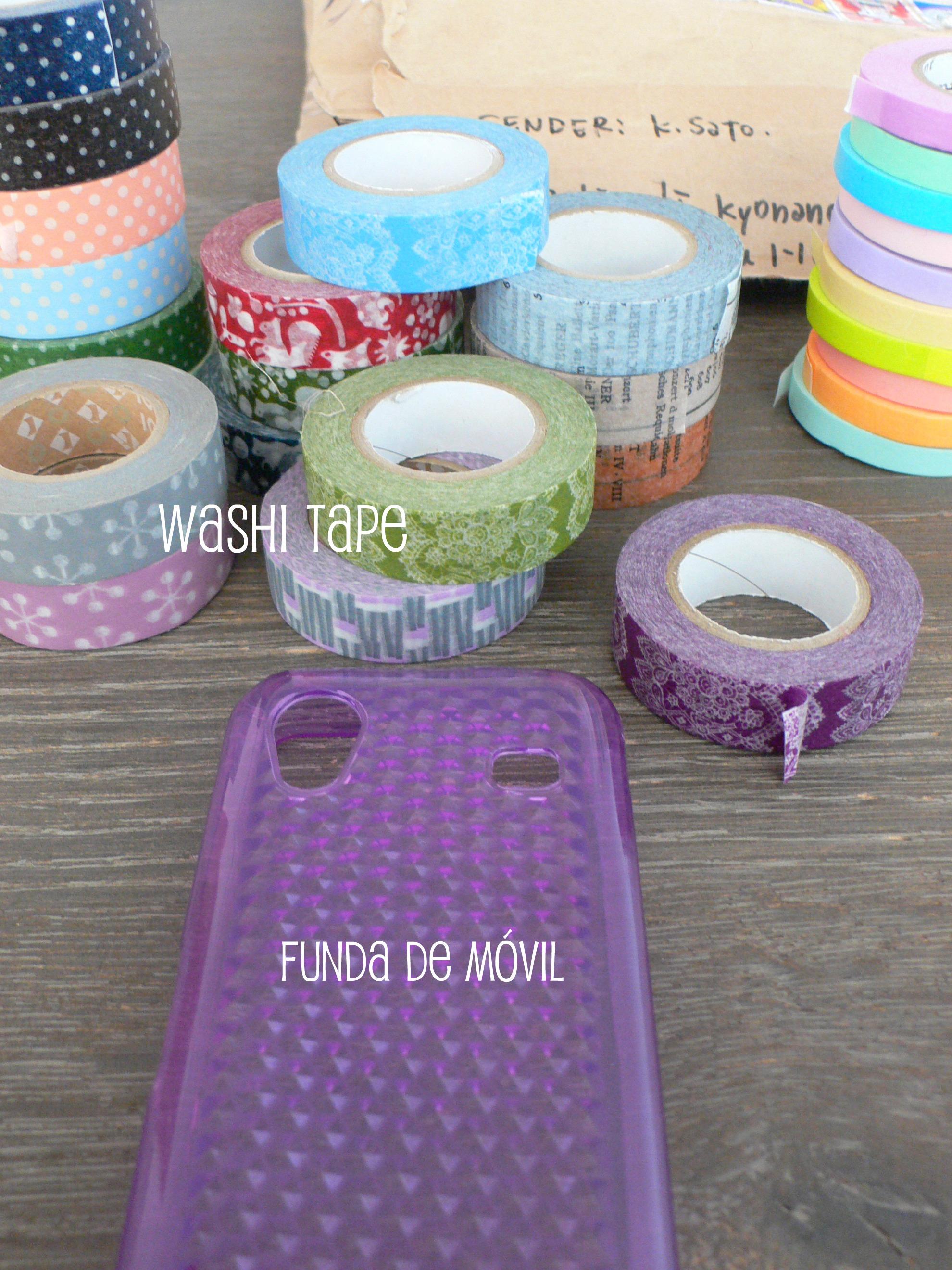 Una funda de washi tape - Fundas para moviles caseras ...