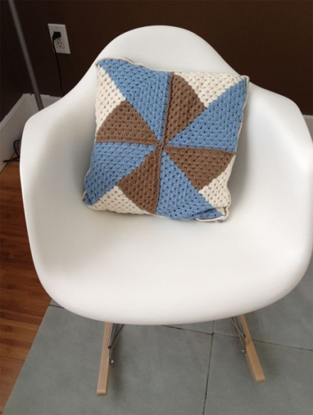 crochet cushion granny square cojin ganchillo 4