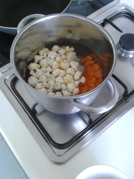 verduras hervidas